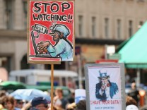 Demonstrators Protest NSA Surveillance
