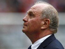 Bayern Munich's manager Hoeness is pictured before friendly soccer match between Bayern Munich and Barcelona in Munich
