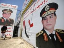 Abdel Fattah al-Sisi auf Plakaten in der Kairoer Innenstadt.