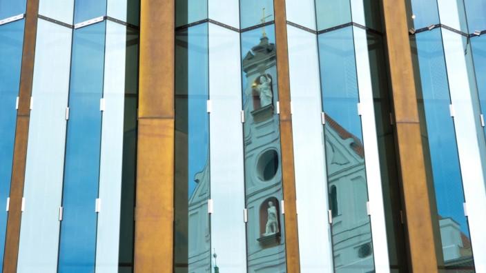 Die Fassade des Pschorr-Hauses in der Münchner Innenstadt.