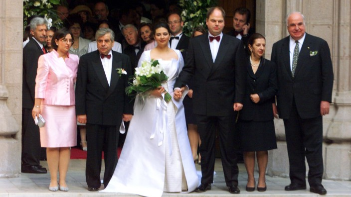 GERMANY'S FORMER CHANCELLOR KOHL'S SON PETER AND HIS TURKISH BRIDE ELIF MARRY IN ST. ANTHONY OF PADUA BASILICA IN ISTANBUL