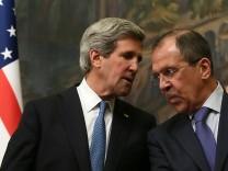 John Kerry und Sergei Lavrov