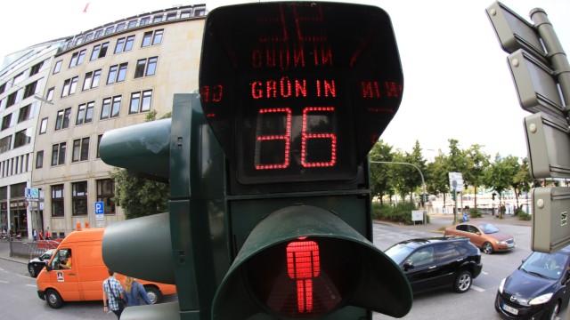 Countdown-Ampel für Fußgänger in Hamburg