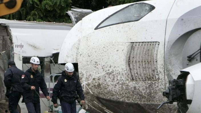 Spanish train crash aftermath