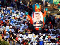 Eid al-Fitr at supporters of ousted president Morsi sit-in in Cai