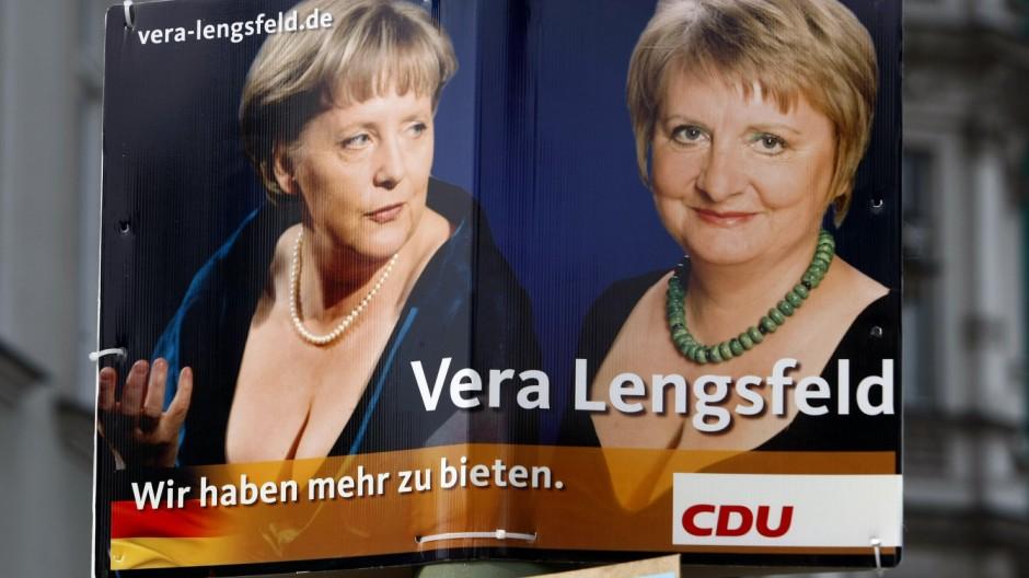 Vera Lengsfeld auf dem CDU-Plakat zur Bundestagswahl 2009