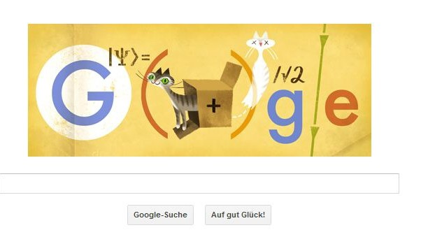 Erwin Schrödinger Google Doodle