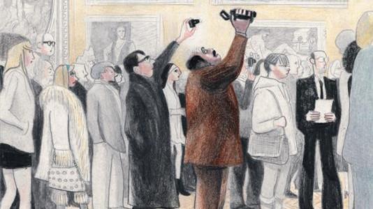 """Graphic Novel """"Einmal durch den Louvre"""" von David Prudhomme, Reprodukt Verlag"""
