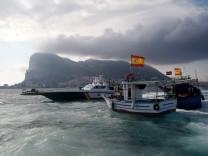 Spanien Gibraltar Fischer Protest