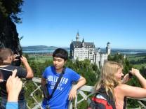 Schloss Neuschwanstein ohne Baugerüst