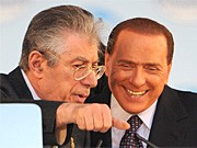 Umberto Bossi, Silvio Berlusconi, AFP