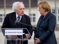 Angela Merkel Max Mannheimer in KZ-Gedenkstätte Dachau