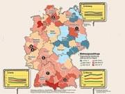 Die Immobilienpreise sind in Deutschland je nach Standort sehr unterschiedlich, Grafik: SZ