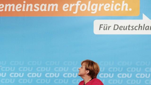 Wahlkampfauftritt von Angela Merkel in Ludwigshafen
