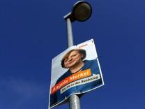 Wahlwerbung für Kanzlerin Merkel