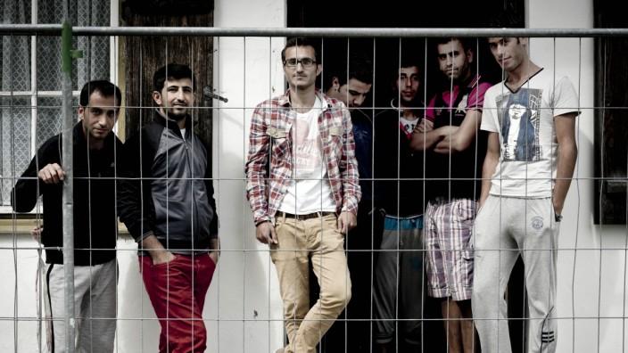 Bernbeuren: Syrische Flüchtlinge am Auerberg.