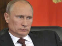 Russian President Putin attends a meeting during his visit to Khabarovsk