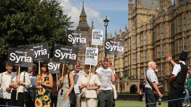 BESTPIX  Parliament Recalled To Discuss The Response To Syria's Use Of Chemical Weapons