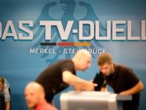 Vorbereitungen für das TV-Duell