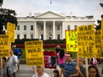 Protestors Against Possible US Military Strike in Syria Gather at