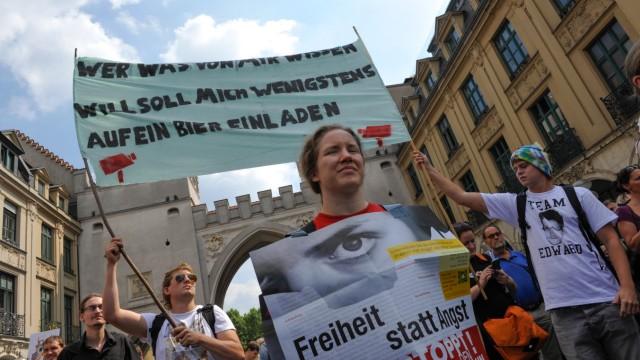 Demonstranten beim International Day of Privacy.
