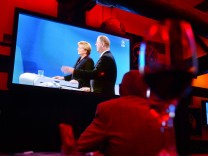 Public-Viewing Fernsehduell Presse Kommentare