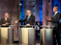 TV election debate of Green Party, Liberal Party and Left Party