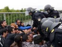 Flüchtlinge auf dem Weg nach München