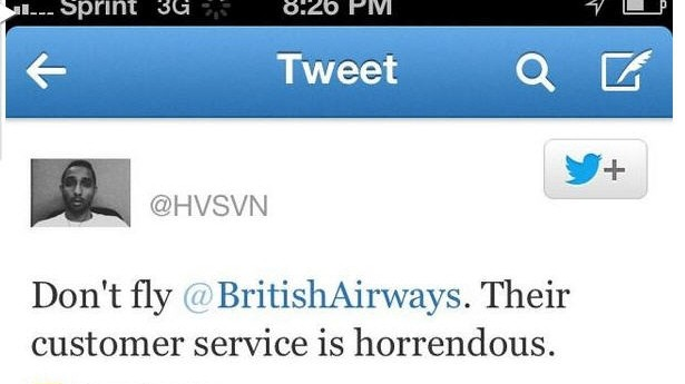 werbetweet british airways