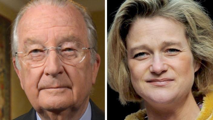 König Albert von Belgien und Delphine Boel
