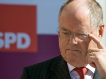 Peer Steinbrück bei einem Wahlkampfauftritt am 4. September im rheinland-pfälzischen Worms.