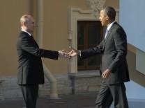Putin empfängt Obama zum G-20-Gipfel in St. Petersburg.