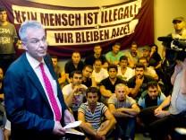 Flüchtlinge im DGB-Haus