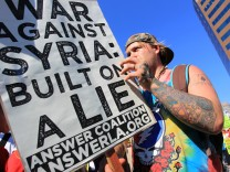Protestors Rally Against Possible Syria Strike