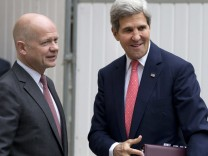 William Hague John Kerry Syrien Treffen in London Ultimatum