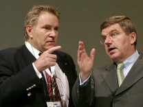 Denis Oswald und Thomas Bach