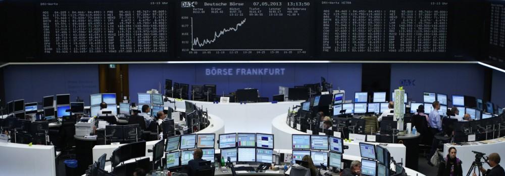 Die Deutsche Börse in Frankfurt