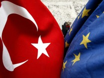 TURKEY-ISTANBUL-EUROPEAN UNION-FLAGS