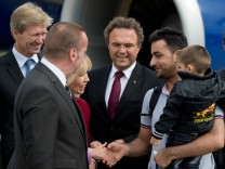 Ankunft Syrien-Flüchtlinge