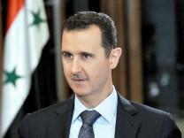 Assad während eines Interviews mit dem US-amerikanischen Fernsehsender CBS.