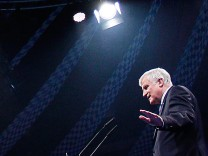 Bavarian State Premier Seehofer speaks at the CSU final election campaign meeting in Munich