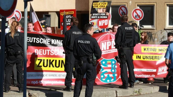 Kundgebung der NPD