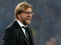 Borussia Dortmund's coach Klopp reacts during their Champions League Group F soccer match against Napoli in Naples