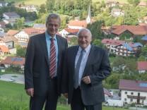 Ernst Hinsken und Alois Rainer in Haibach.