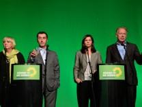 Grüne Bundestagswahl Claudia Roth, Cem Özdemir, Jürgen Trittin, Katrin Göring-Eckardt