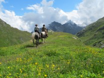 Rittlings über den Septimerpass -Zu Pferd den Römern auf der Spur