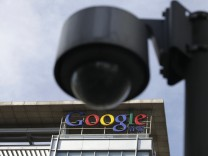Das Google-Logo am chinesischen Hauptquartier der Firma in Peking