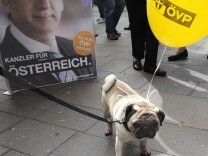 Election campaign of OeVP in Austria