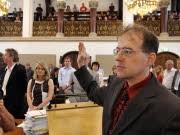 Der rechtsextreme Münchner Stadtrat Karl Richter; ddp