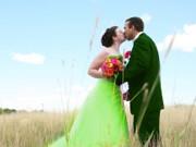 Hochzeit in Grün